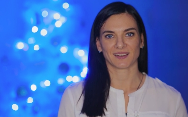 Yelena Isinbaeva - President of Charity Foundation wishes all a Happy New Year!